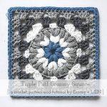 Free Crochet Pattern Triple Puff Granny Square