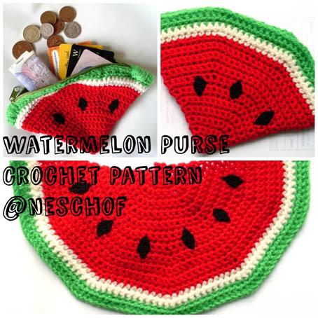 Free Crochet Pattern Watermelon Coin Purse
