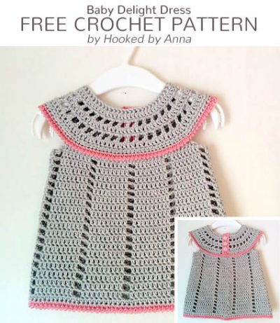 Free Crochet Pattern Baby Delight Dress