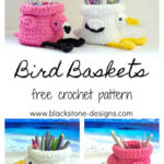 Free Crochet Pattern Bird Baskets