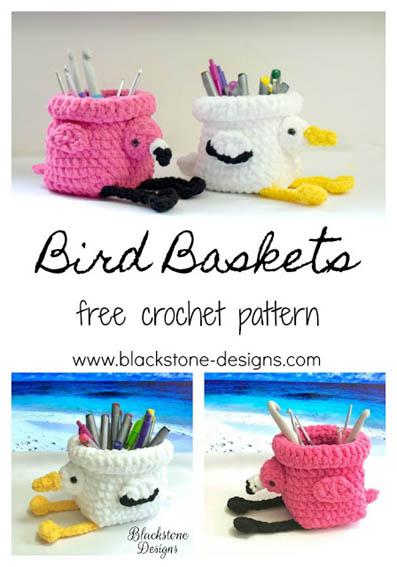 Free Crochet Pattern Bird Baskets