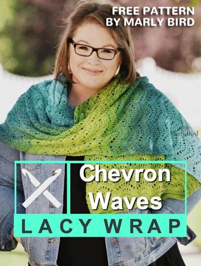 Free Crochet Pattern Chevron Waves Wrap