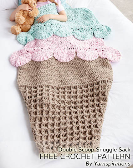 Free Crochet Pattern Double Scoop Snuggle Sack
