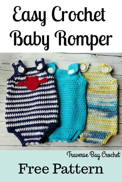 Free Crochet Pattern Easy Baby Romper