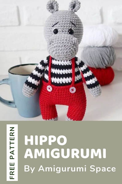 Free Crochet Pattern Hippo Amigurumi