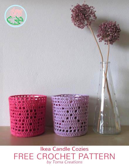 Free Crochet Pattern Ikea Candle Cozies