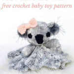 Free Crochet Pattern Koala Lovey