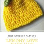Free Crochet Pattern Lemony Love Baby Hat