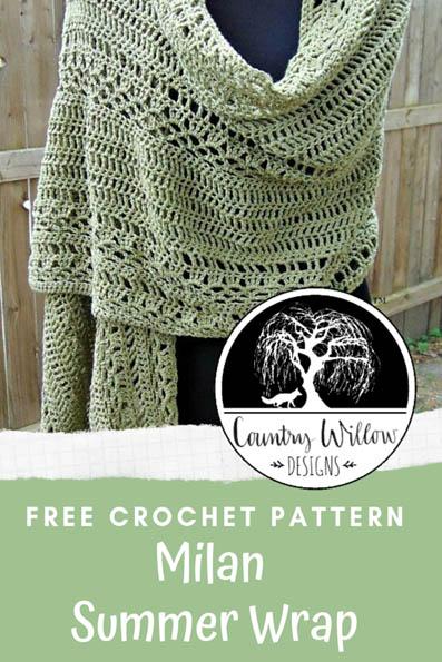 Free Crochet Pattern Milan Summer Wrap