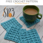 Free Crochet Pattern One Cup Coaster