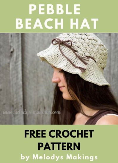 Free Crochet Pattern Pebble Beach Hat