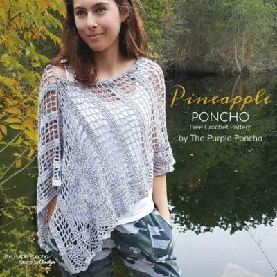 Free Crochet Pattern Pineapple Poncho