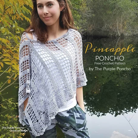 Free Crochet Pattern Pineapple Poncho