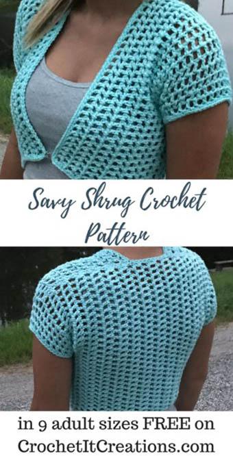 Free Crochet Pattern Savy Shrug