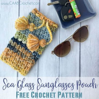 Free Crochet Pattern Sea Glass Sunglasses Pouch