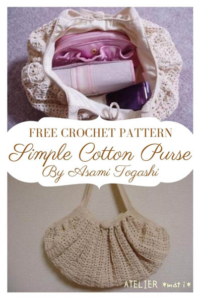 Free Crochet Pattern Simple Cotton Purse