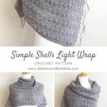 Free Crochet Pattern Simple Shells Wrap