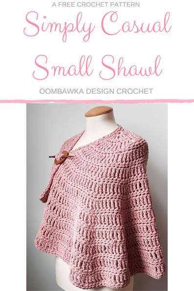 Free Crochet Pattern Simply Casual Shawl