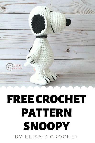 Free Crochet Pattern Snoopy