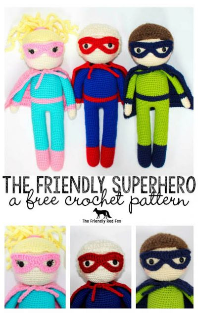 Free Crochet Pattern The Friendly Superhero
