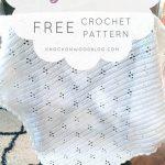 Free Crochet Pattern Tiny Diamonds Baby Blanket