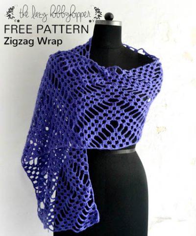 Free Crochet Pattern Zigzag Wrap