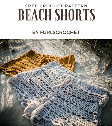 Free Crochet Pattern Beach Shorts
