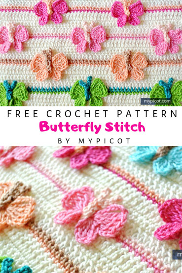 Free Crochet Pattern Butterfly Stitch