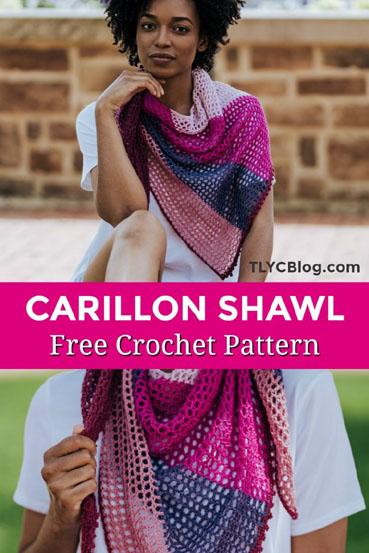 Free Crochet Pattern Carillon Summer Shawl