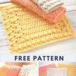 Free Crochet Pattern Cottage Square Dishcloth