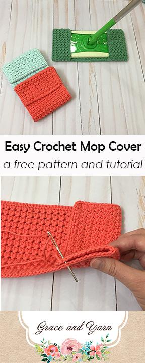 Free Crochet Pattern Easy Mop Cover