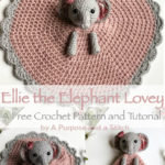 Free Crochet Pattern Elephant Lovey Ellie