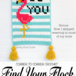 Free Crochet Pattern Flamingo Wall Hanging