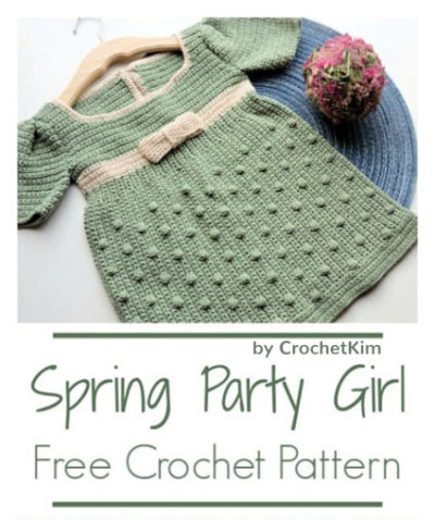 Free Crochet Pattern Spring Girl Dress