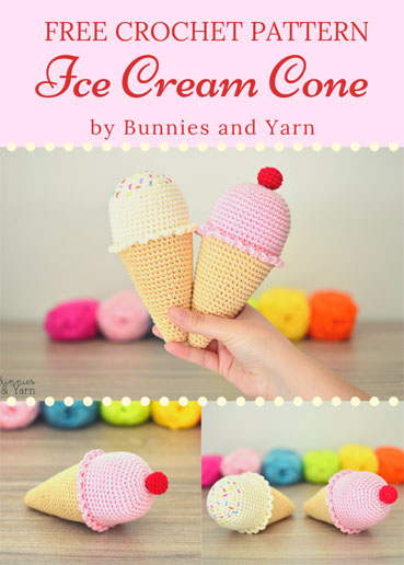 Ice Cream Cone – Free Pattern | 516x369