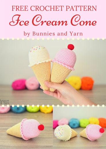 Free Crochet Pattern Ice Cream Cone