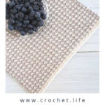 Free Crochet Pattern Interlaced Row Placemat
