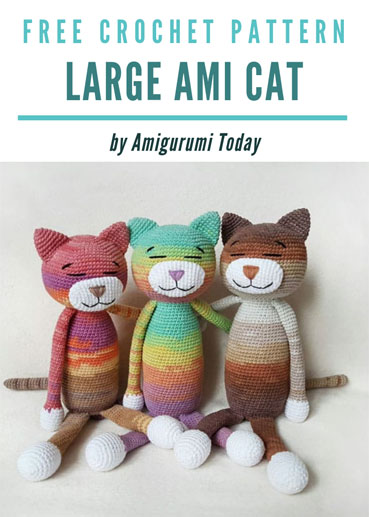 Free Crochet Pattern Large Ami Cat