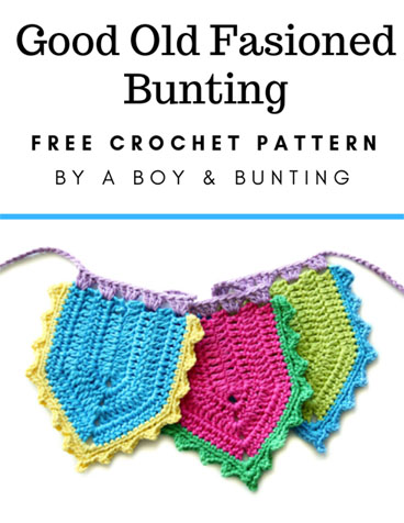 Free Crochet Pattern Old Fasioned Bunting