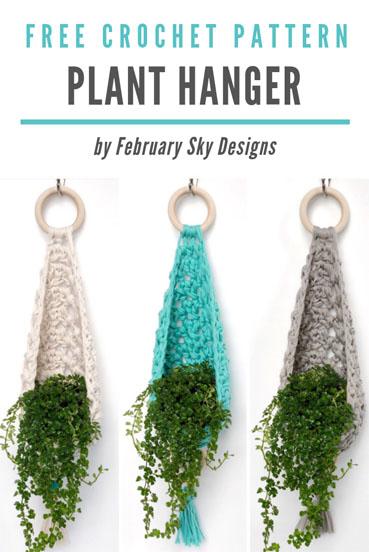 Free Crochet Pattern Plant Hanger