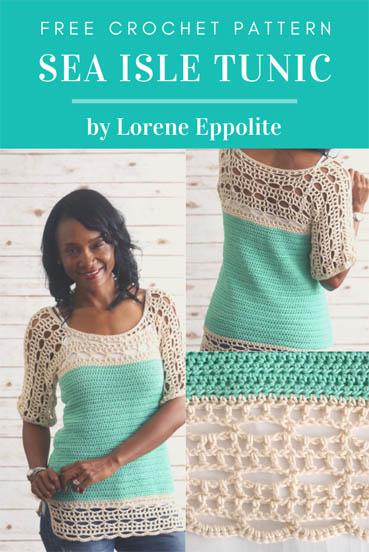 Free Crochet Pattern Sea Isle Tunic