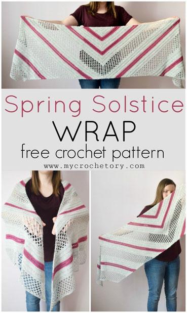 Free Crochet Pattern Spring Solstice Wrap