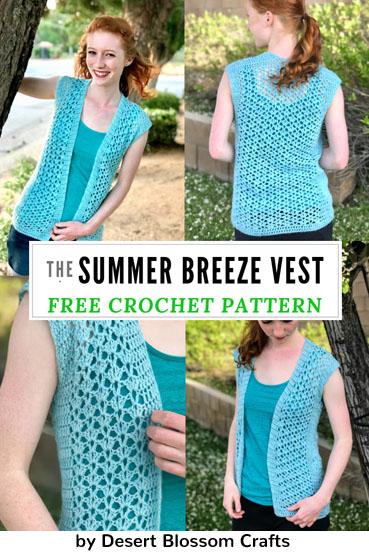Free Crochet Pattern Summer Breeze Vest