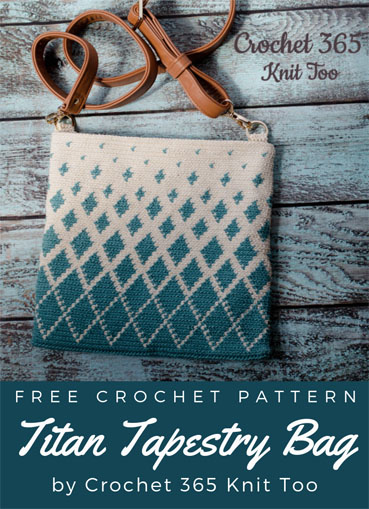 Free Crochet Pattern Titan Tapestry Bag