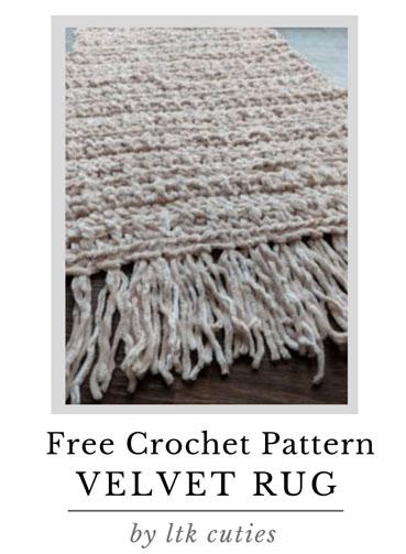 Free Crochet Pattern Velvet Rug