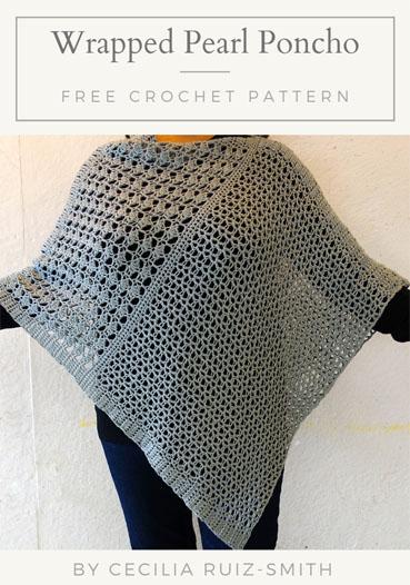 Free Crochet Pattern Wrapped Pearl Poncho