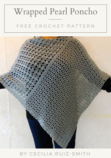 Free Crochet Pattern Wrapped Pearl Poncho