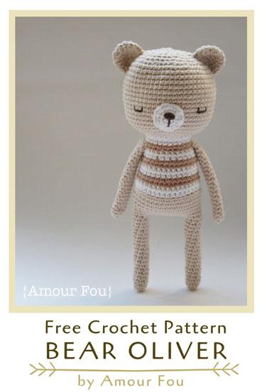 Free Crochet Pattern Bear Oliver