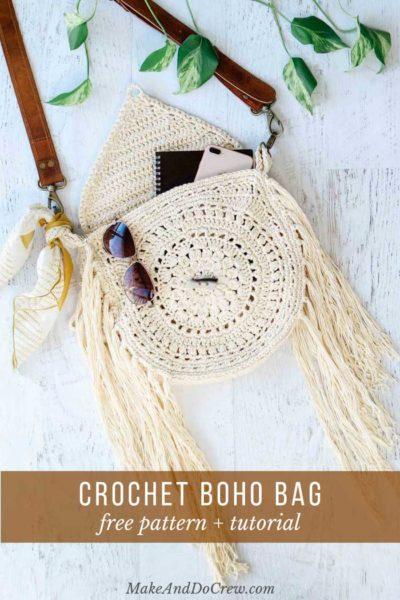 Free Crochet Pattern Boho Bag
