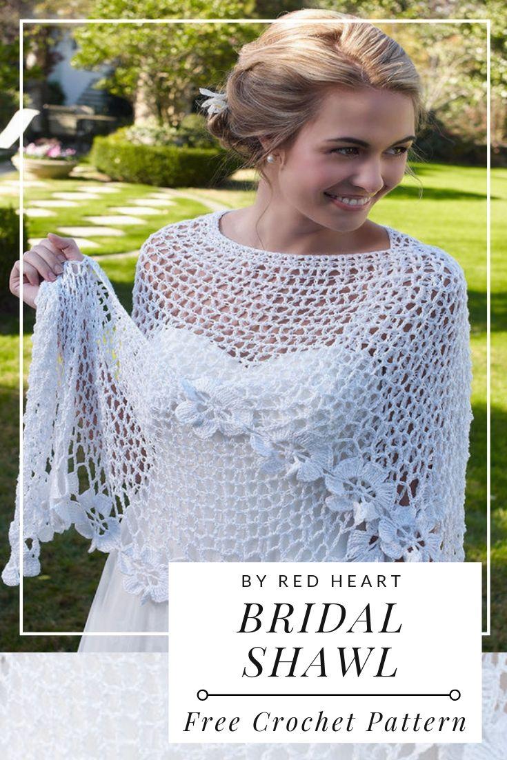 Free Crochet Pattern Bridal Shawl